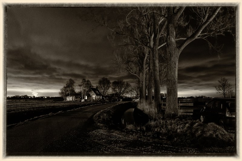 Nachtlandschap bij Walsemaweer