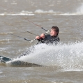 Kitesurfer bij Lauwersoog