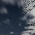 maanlicht, wolken en sterren